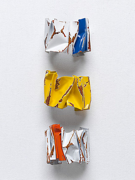 Celine Crushed Cuff in Painted Copper