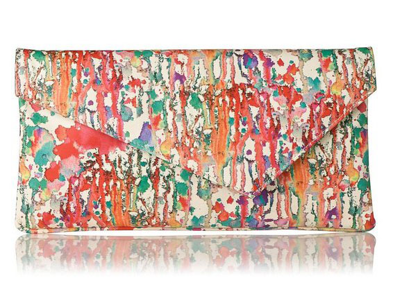 L.K. Bennett Leonie Printed LEather Clutch