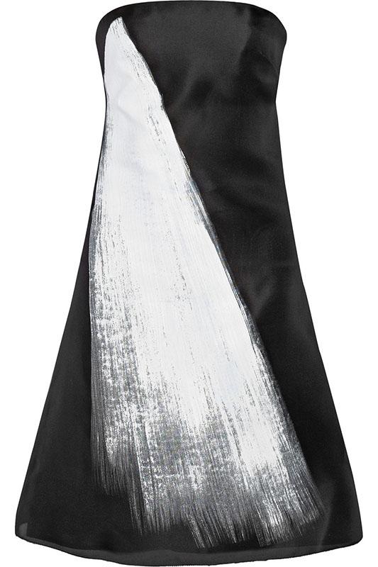 Vera Wang Printed silk-gazar dress