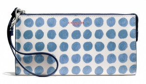 Bleecker Zippy Wallet in painted dot coated canvas