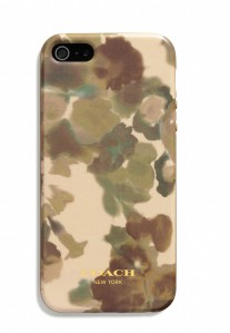 Coach iPhone 5 case in camo floral print