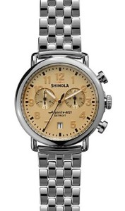 Shinola The Runwell Two Tone Chronograph Watch, 41mm  via youmademelikeyou.com