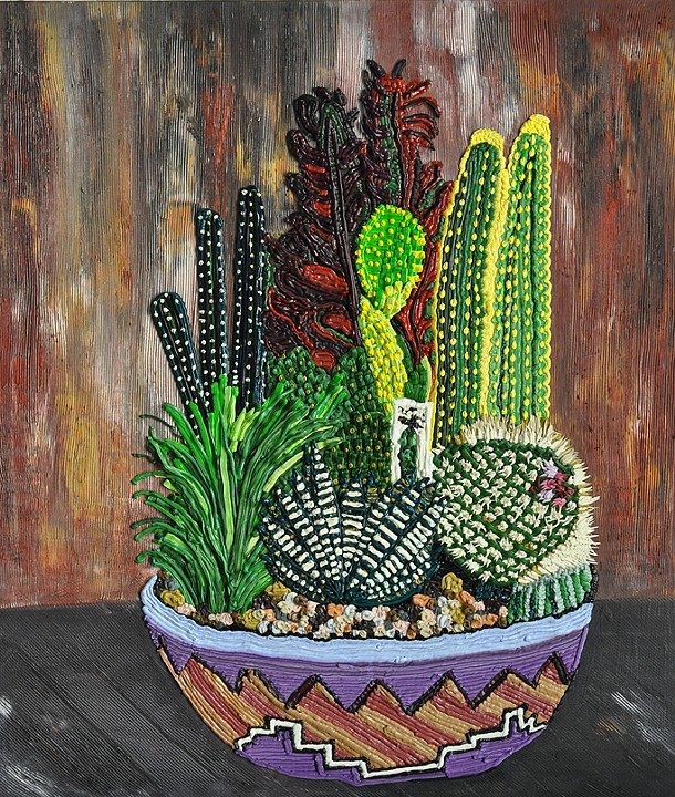 Caroline Larsen Combed Still Life 2013 Oil on Canvas 31 x 21 inches