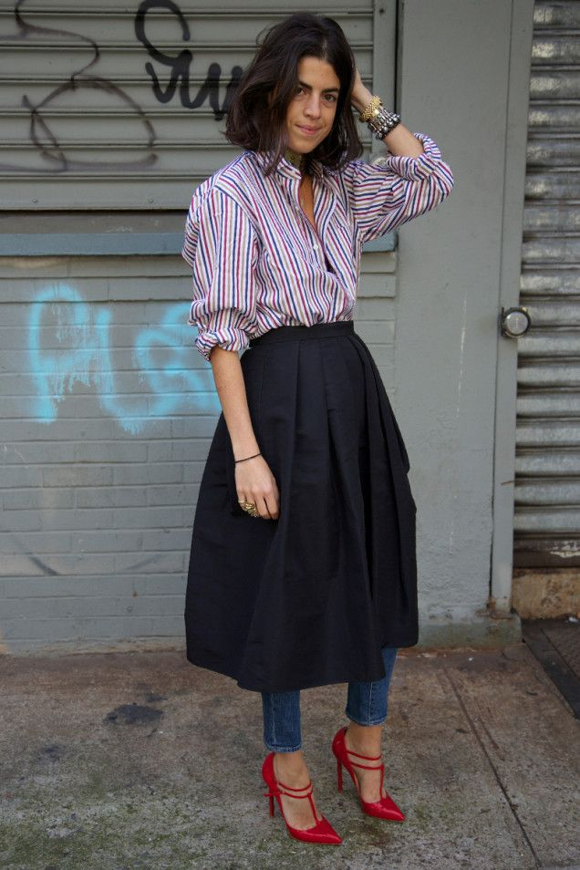 Man Repeller wearing Dress/Skirt over pants via youmademelikeyou.com