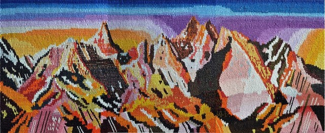 Caroline Larsen Mountain Range 2013 Oil on Canvas 50 x 120