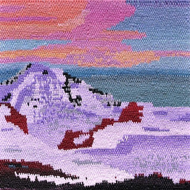 Caroline Larsen Purple Sky 2012 Oil on Canvas 43 x 43 inches