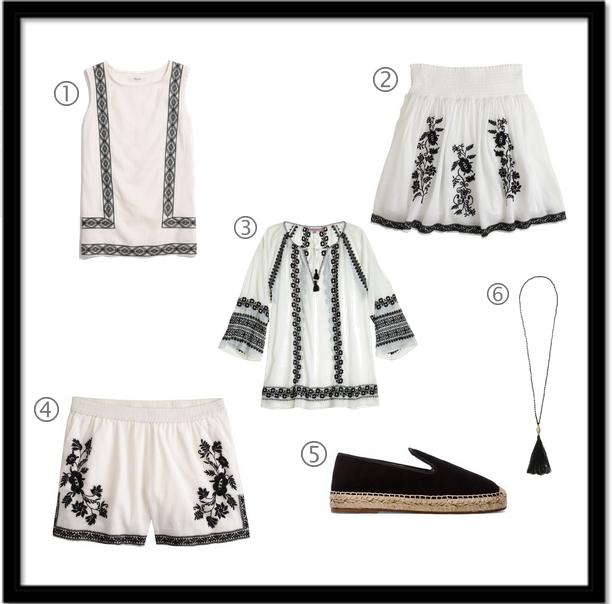 jcrew, madewell, calypso st. barth, elyse walker black thread on white via youmademelikeyou.com