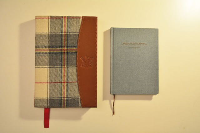 Hudson's Bay Company Notebook and O-check design graphics notebook from Club Monaco via youmademelikeyou.com