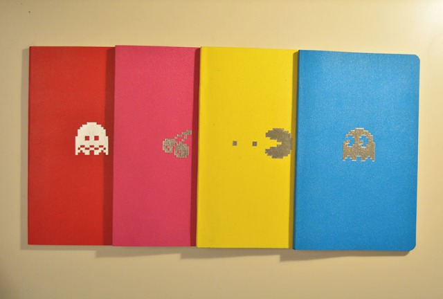Moleskine Pac-Man notebook set via youmademelikeyou.com