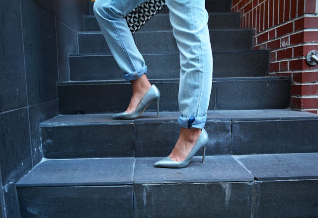 laid back dinner outfit, Proenza Schouler Jeans and Shoemint shoes  via youmademelikeyou.com