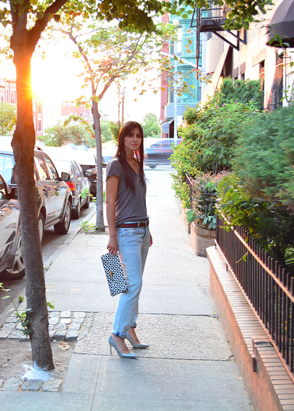 laid back dinner outfit, Proenza Schouler Jeans and belt via youmademelikeyou.com