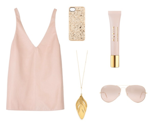 blush and gold via youmademelikeyou.com