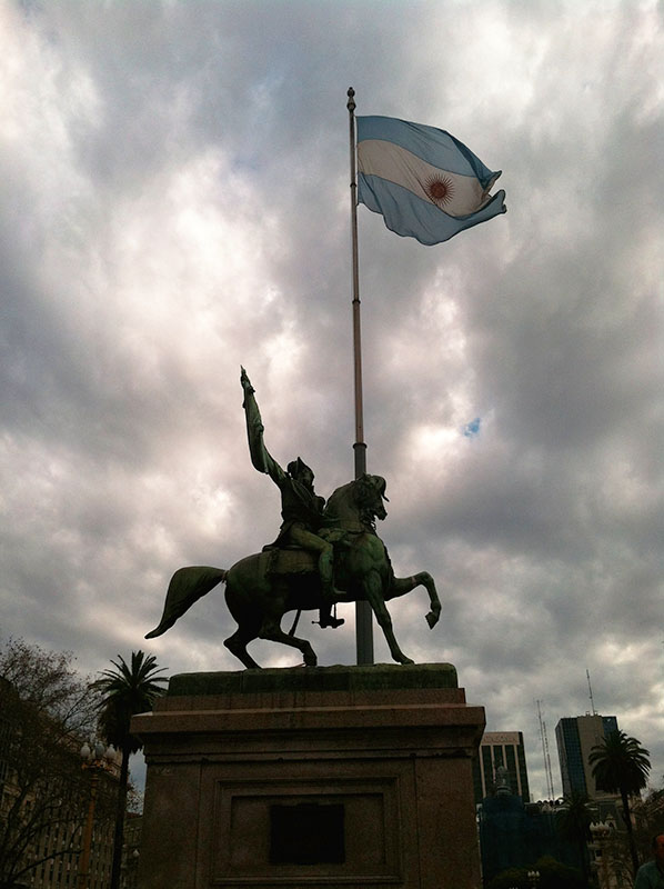 Outside La Casa Rosada, Buenos Aires, Argentina