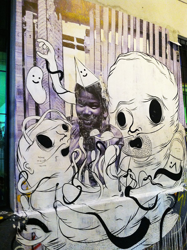 Street art in San Telmo, Buenos Aires