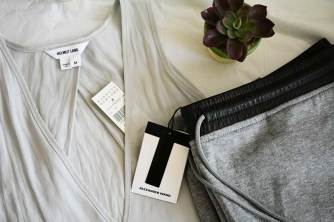 Spoils from the sale at Barney's, Alexander Wang Sweatpants and Helmut Lang top via youmademelikeyou.com