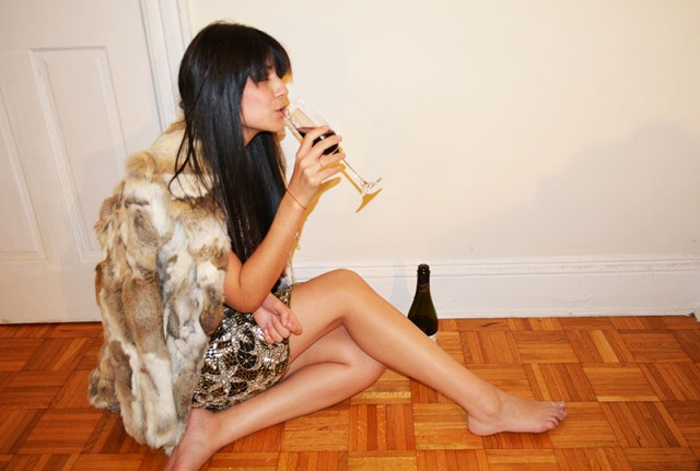 sequins and Lambrusco to ring in the new year via youmademelikeyou.com