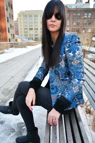 Helmut Lang Jacket OOTD on the High Line NYC via youmademelikeyou.com