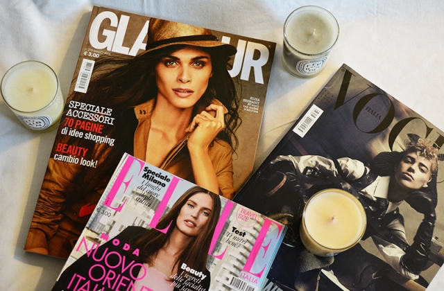 Italian Vogue, Elle and Glamour - Simple Delights via youmademelikeyou.com