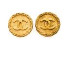 Vintage Chanel gold earrings