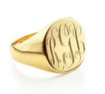 Sarah Chloe Round Signet Ring