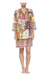 Etro Long-Sleeve Kimono Hawaiian Paisley-Print Tunic